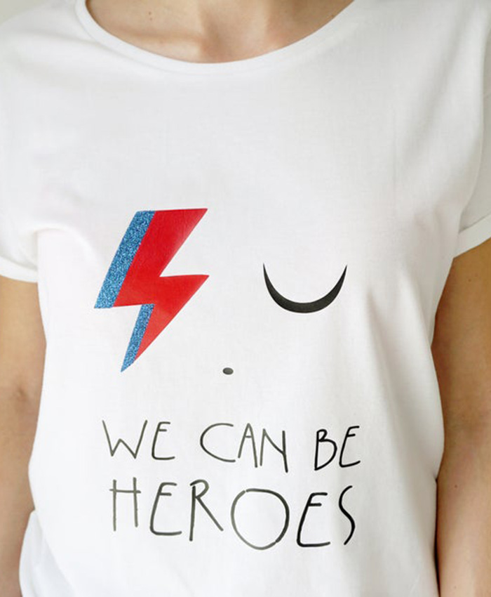 Camiseta We can be heroes para mamá